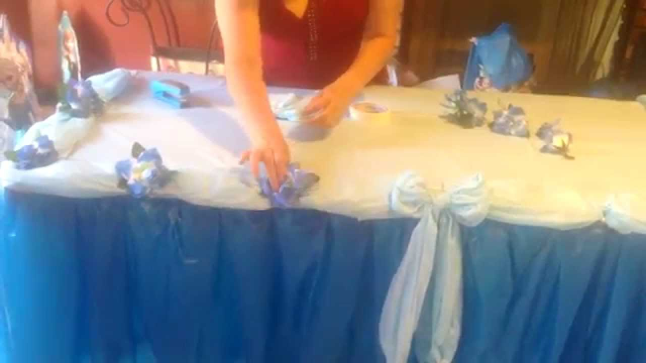 Como decorar una mesa estilo frozen o de princesas youtube - Decorar la mesa ...