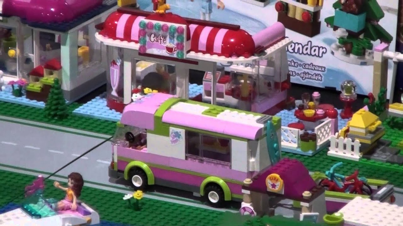 Lego Friends Village with custom built Lego train - YouTube