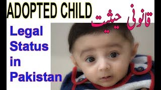 🔴Child Adoption Law in Pakistan