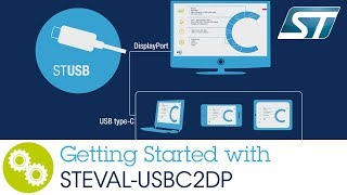 Getting started with STEVAL-USBC2DP (USB Type-C™ to DisplayPort™ adapter)