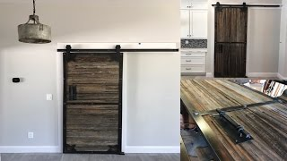 Industrial sliding barn doors | DIY