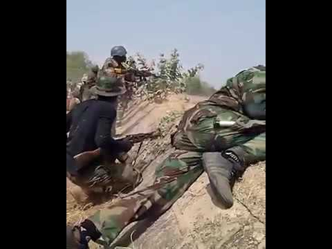 Nigerian troops battling boko haraam