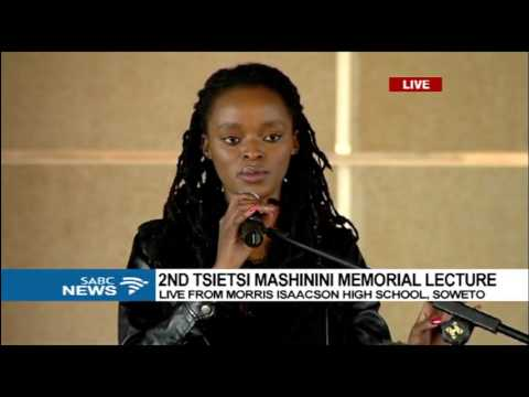 Busisiwe Seabe adresses Tsietsi Mashinini Memorial lecture