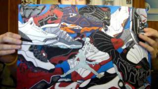 Air Jordan shoe drawing. If you want one of your collection contact me