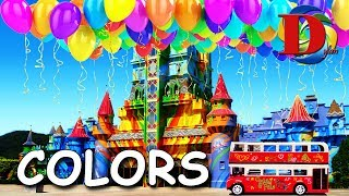Learn colors with Train Bus Tram Metro for Kids Children Учим цвета Мультик про машинки