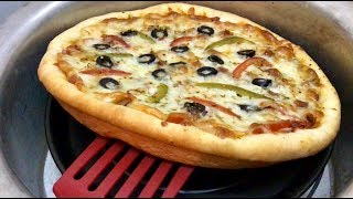 Supreme Pizza Eggless & Without Oven - Thick Crust Pizza in Pot
