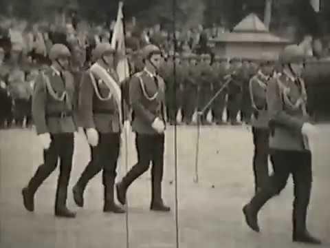 40 lecie S B  Wręczenie Sztandaru Gołdap 6 10 1984r