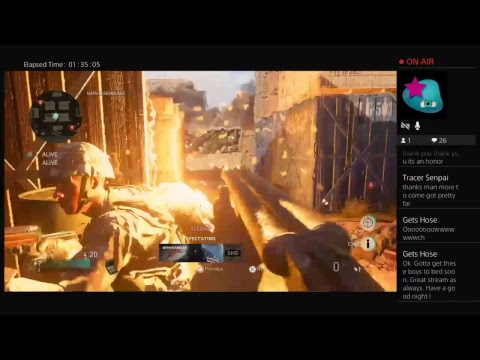 Lordblueeyes/FrankieG Staring Madelyn, COD WWII let's play Live PS4 Broadcast