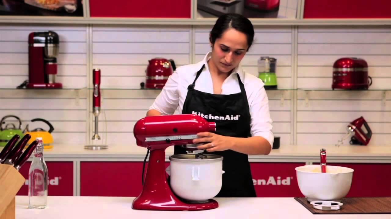 Kitchenaid Ice Cream Maker Attachment Youtube