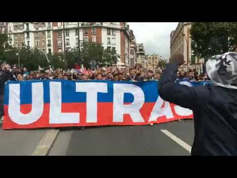 Le Collectif Ultras Paris accueil les nouvelles recrues du PSG (1/2)