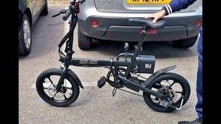 Powerful CMSBIKE F16 Hybrid Electric Bike - 28KMPH - Foldable - 250W