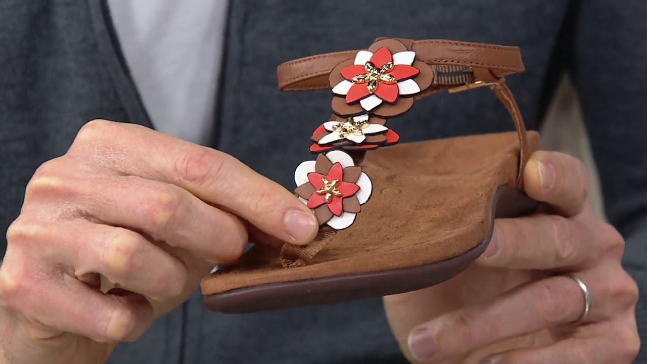 75d8008df828 Vionic Floral T-Strap Sandals - Paulie on QVC - YouTube
