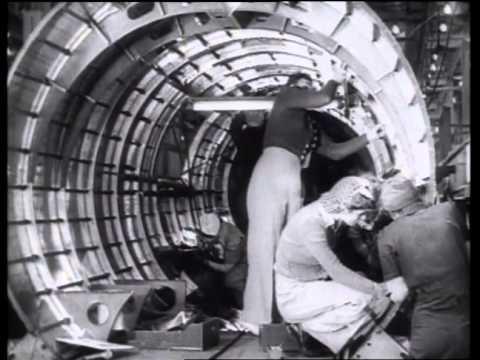 Women Fill Men's Factory Jobs During World War II