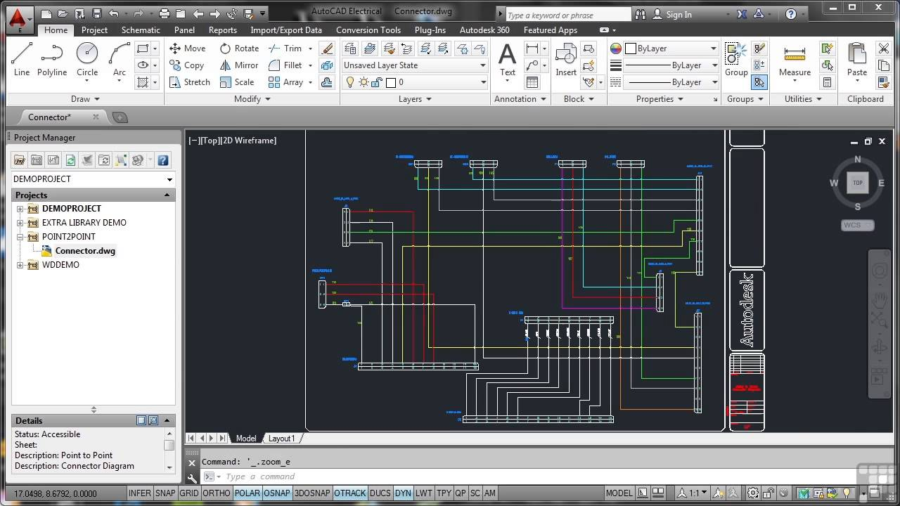 maxresdefault autodesk autocad electrical 2014 tutorial typical connector autocad wiring diagram tutorial at bayanpartner.co