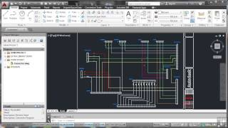 Autodesk Autocad Electrical 2014 Tutorial | Typical Connector Drawing