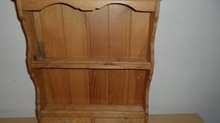 MY OLD ENGLISH BRITISH VINTAGE PINE SPICE RACK WITH 2 DRAWS