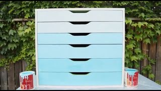 Apartment Makeover: Diy Ombre Dresser
