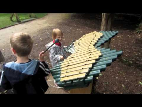Playing On The RHS Harlow Carr Garden Xylophones