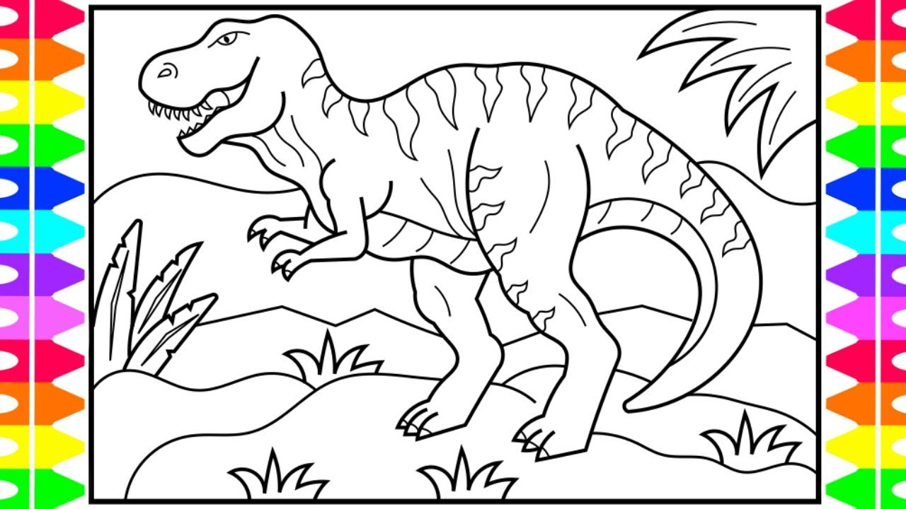 - How To Draw A DINOSAUR For Kids 🖤💚🦖Dinosaur Drawing Dinosaur