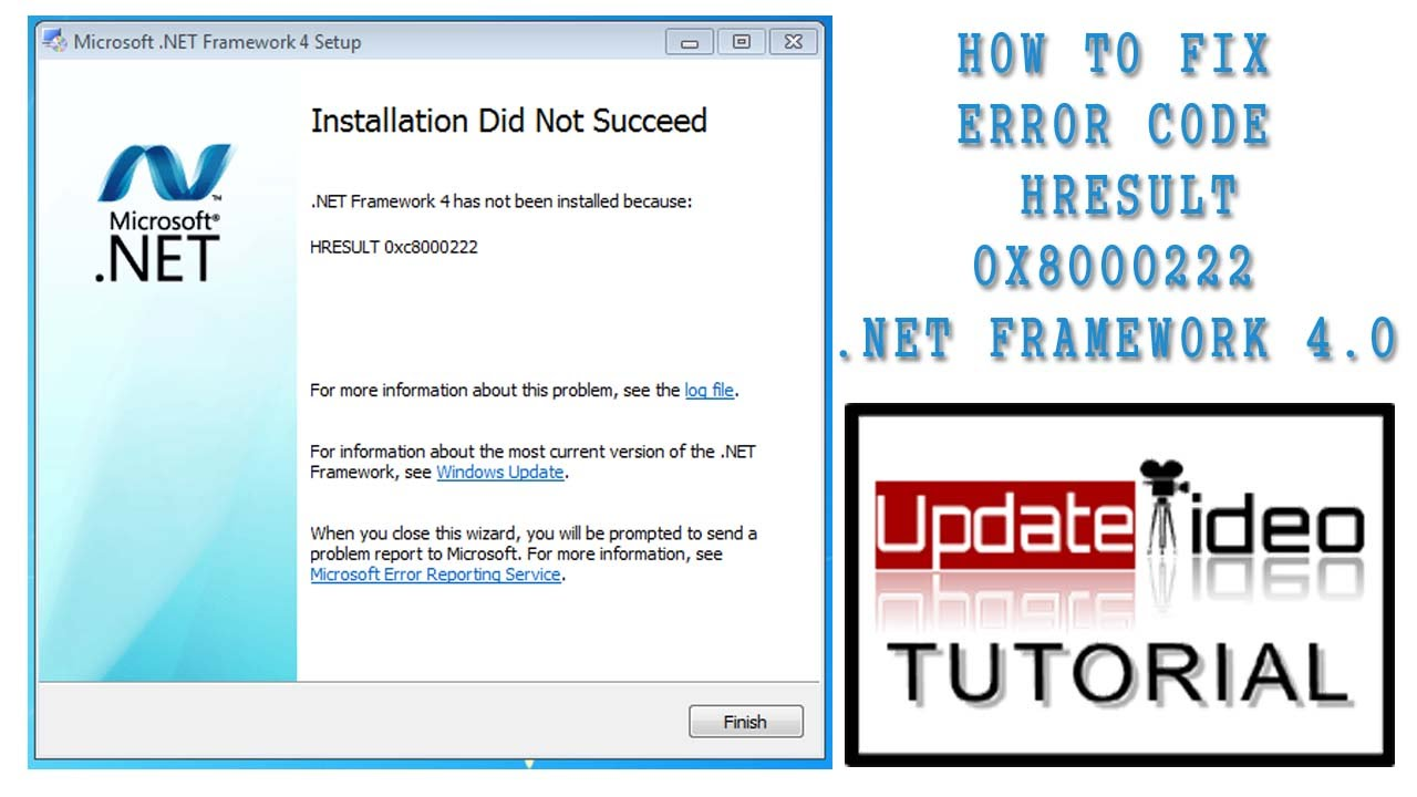 ▷▷100% Fix .Net Framework | ▷▷How To Fix Error code HRESULT ...