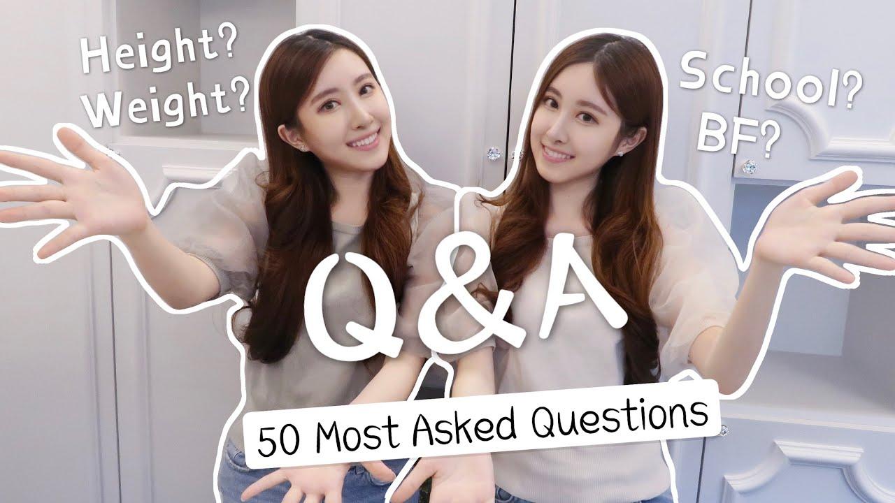 (ENG) Our first Q&A | 理想型?身高體重?短髮? 回答最多人問的50題問題!/ Sandy&Mandy