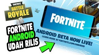 ANDROiD FORTNiTE Release!! This WAY the DOWNLOAD 😍 Fortnite Mobile Indonesia