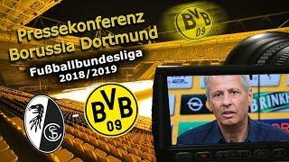 SC Freiburg - Borussia Dortmund: Pk mit Lucien Favre