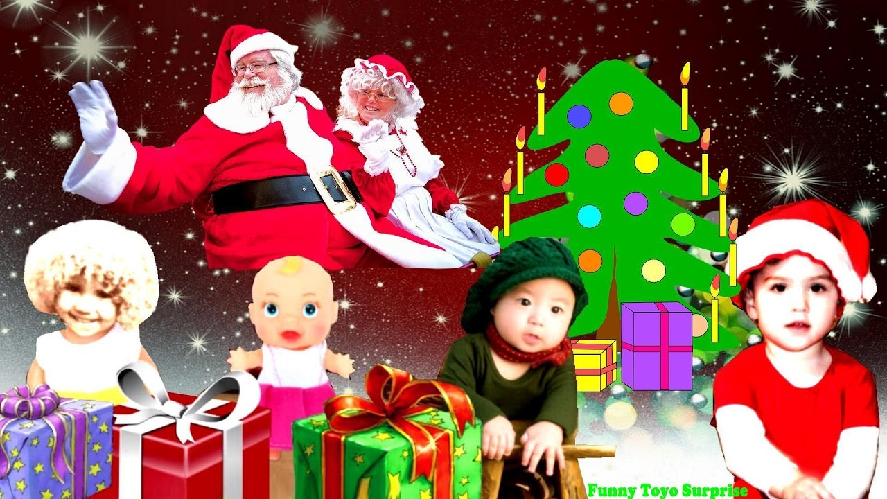 merry christmas with love from santa and mrsclaus kids letters song silent night cartoon animation youtube - Santa And Kids