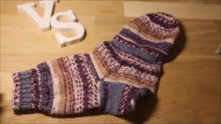 Вязание пятки и подъёма в носках, БЕЗ дырочек.