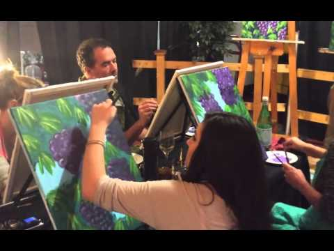 Paint and Wine Party at Capitello hosted by Creatrix Realms in Eugene Oregon