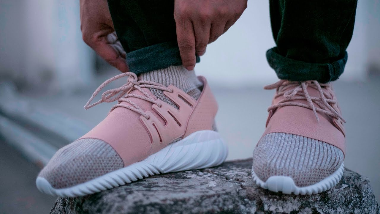 adidas Originals Tubular Doom Primeknit St Pale Nude - Details and On Feet  Review - YouTube f3f685e24