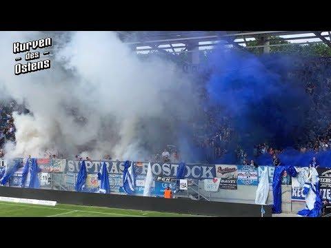 Chemnitzer FC 1:1 FC Hansa Rostock 12.05.2018 | Choreos, Pyroshows & Support