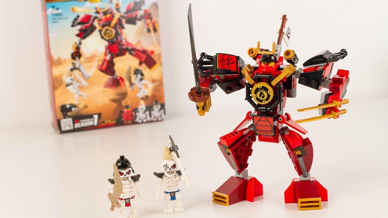 LEGO Ninjago Samurai Mech Set Lego 70665 Super Héros et Compagnie Speedbuild Review