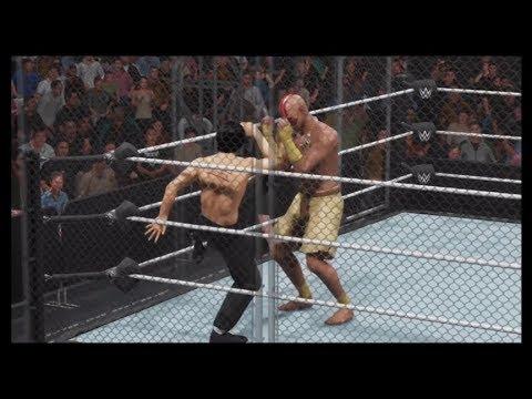 Bruce Lee vs. Dhalsim (WWE 2k19) - Steel Cage (CPU vs. CPU)