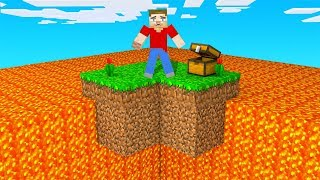 Minecraft SKYBLOCK But LAVA Rises Every MINUTE!
