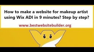 How to make a website for makeup artist using Wix ADI in 9 minutes? Step by step