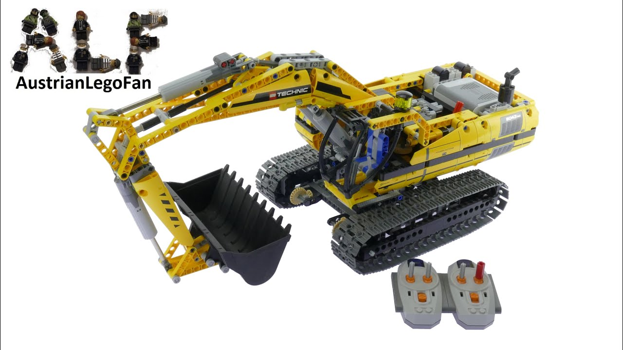 Lego Technic 8043 Motorized Excavator Lego Speed Build Review Youtube