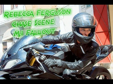 Rebecca Ferguson Bike Chase Scene Mission Impossible Fallout Youtube