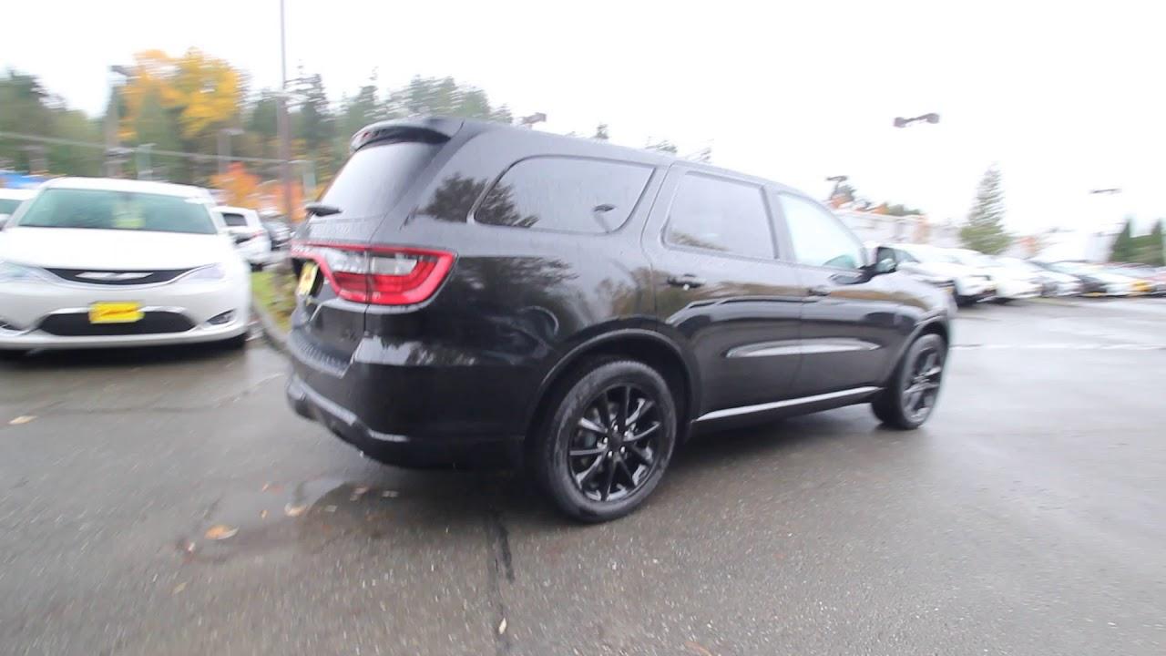 2018 Dodge Durango R/T Blacktop AWD | Black | JC115877 | Redmond | Seattle | - YouTube