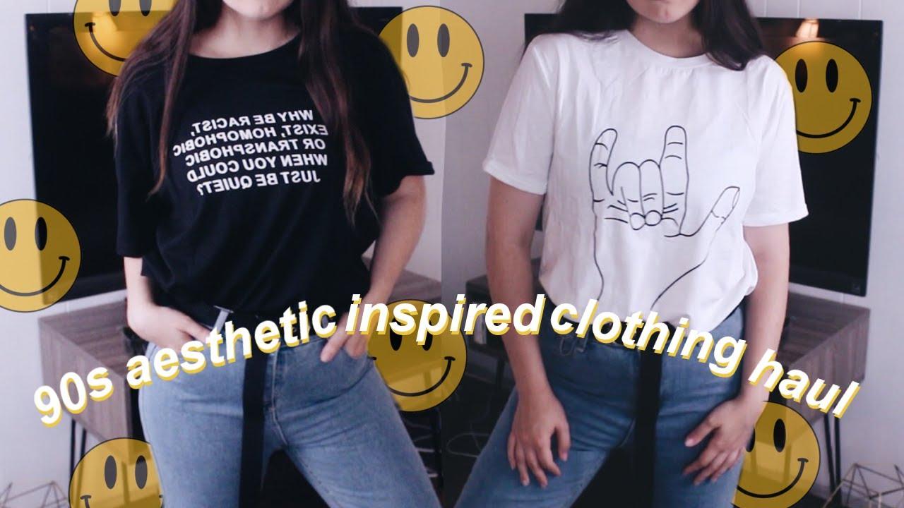 Super 90 S Aesthetic Clothing Haul Ft Romwe Youtube
