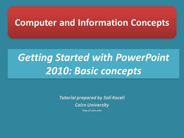 PowerPoint 2010 Tutorials