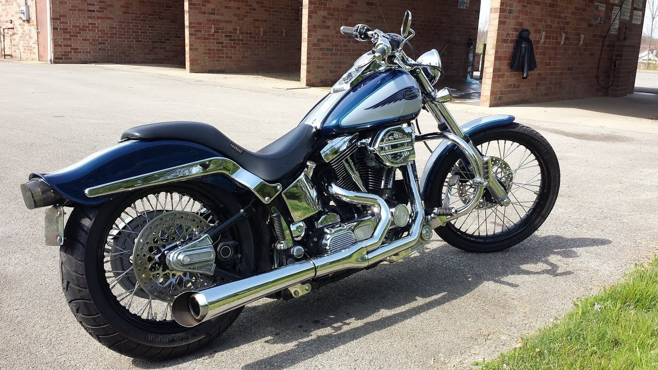 The Widest Harley Softail Rear Tire Setup (Without major modifications)
