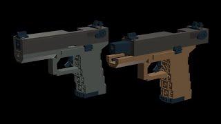 custom Lego Gun MOC: Jim's Glock 18 (Modification Instructions)
