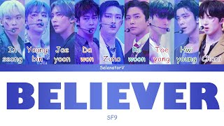 SF9 (에스에프나인) - |Believer| (숨) [Color Coded Han_Rom_Eng]