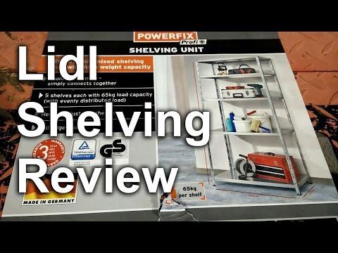 Garage Shelving Racking Review - Lidl Powerfix