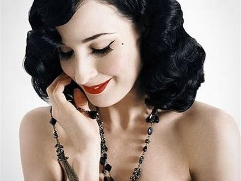 How To Style Your Hair Like Dita Von Teese