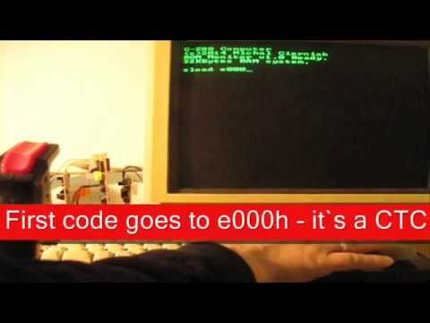 Snake game on a homebrew Z80 CPU based computer with AY Sound