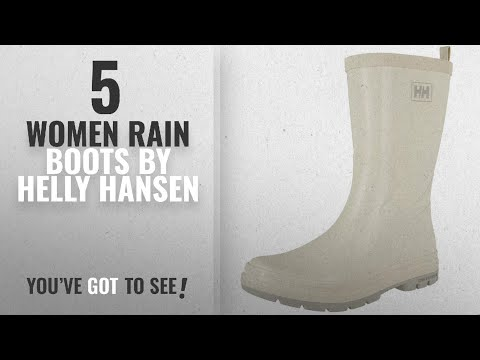 Helly Hansen Women Rain Boots [2018]: Helly Hansen Women's W Midsund 2 Rain Boot, Off White/Light