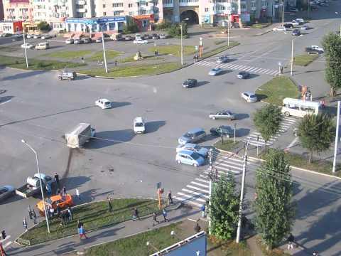 Страшное ДТП в Абакане зафиксировала уличная камера