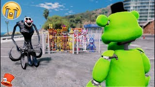 WILL SLIME FREDDY SAVE ALL THE ANIMATRONICS FROM REAPER PUPPET? (GTA 5 Mods For Kids FNAF RedHatter)